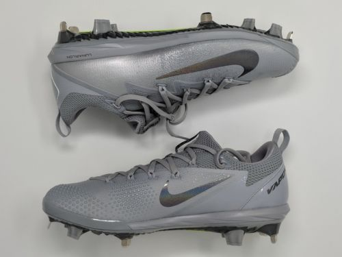 Nike Lunar Vapor Ultrafly Elite Baseball Cleats Wolf Grey 852686-001 NEW - LoneSole