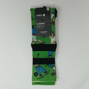 Stance All Mountain OTC Men's Socks Green Dad Cam Size Medium 6-8.5 Father's Day - LoneSole