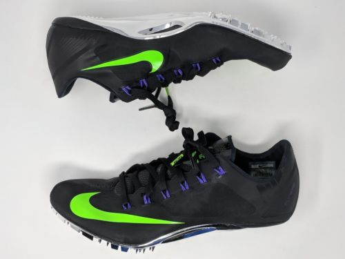 Nike Zoom Superfly R4 Black/Green Men's Sprint Track Cleats 526626-053 - LoneSole