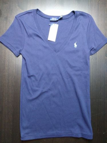 Ralph Lauren Girls V Neck Short Sleeve Top New Girl's Size Medium M - LoneSole