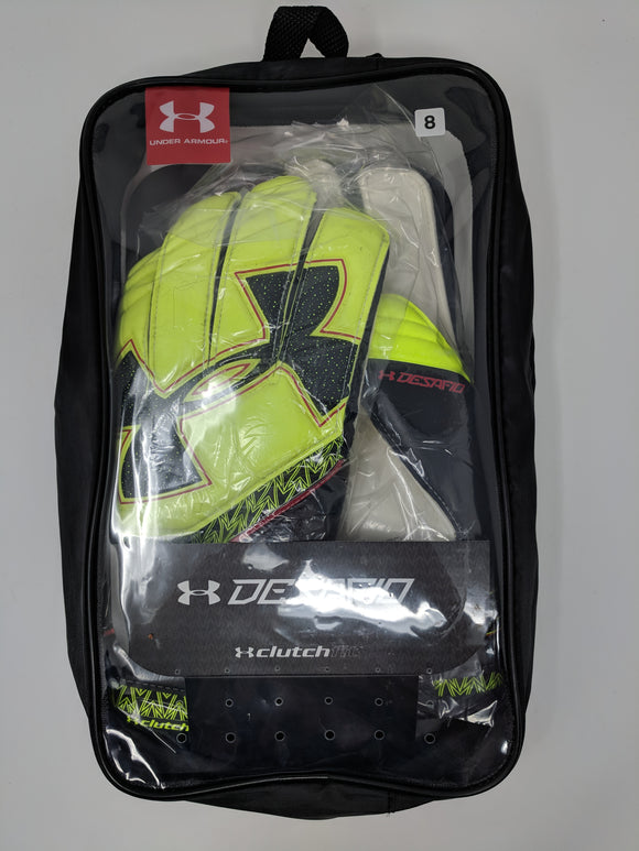 Under Armour Desafio Mens Soccer Goalkeeper Gloves 1279429-731 New - LoneSole