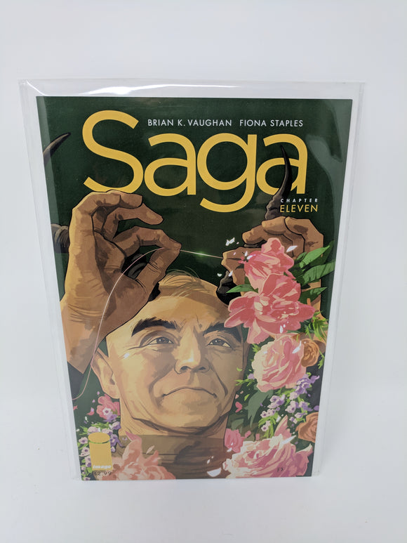 Saga #11 Comic Book 2013 VF/NM First Print Image Brian Vaughan Fiona Staples Rare - LoneSole