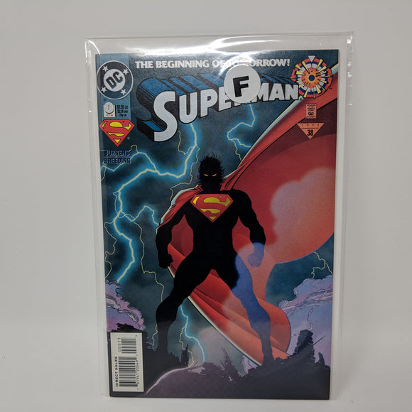 Superman #0 (1994, DC) Beginning of Tomorrow F - LoneSole