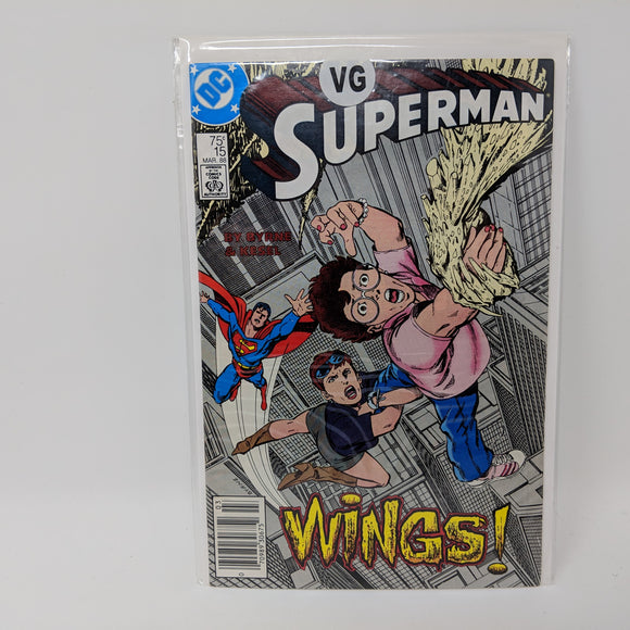 Superman #15 (1987) VG - LoneSole