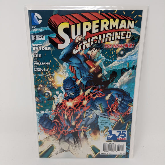 Superman Unchained #3A ( 2013-2015 ) DC Comic Book VF/NM - LoneSole