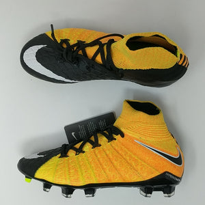 Nike JR Hypervenom Phantom III DF FG Soccer Cleats Laser Orange SZ (882087-801 ) - LoneSole