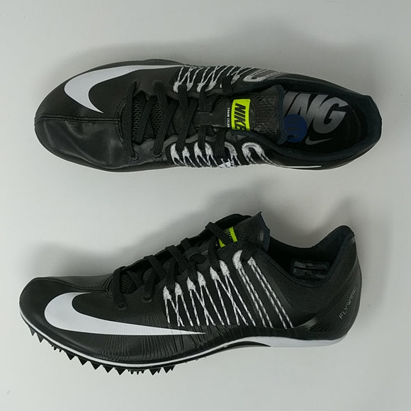 NIKE ZOOM CELAR 5 TRACK SPIKES BLACK WHITE 629226 017 MEN'S SIZE 11 - LoneSole