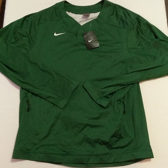 Nike Baseball Vapor L/S 708188 341 Green Pullover Wind Windshirt Jacket Mens - LoneSole