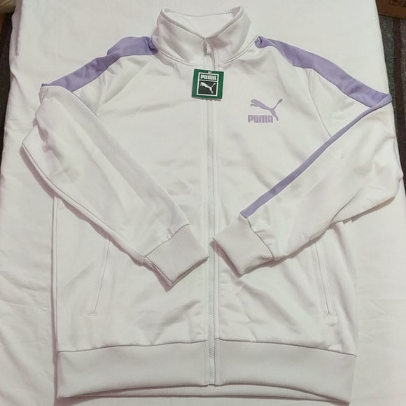 Puma Archive T7 Track Jacket Mens Purple White New TL35853 - LoneSole