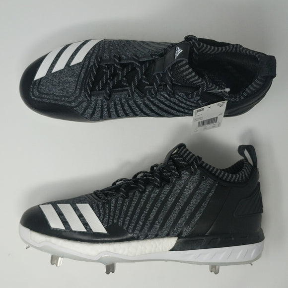 Adidas Boost Icon 3 Metal Baseball Cleats Knit Grey White Black DB1793 New - LoneSole