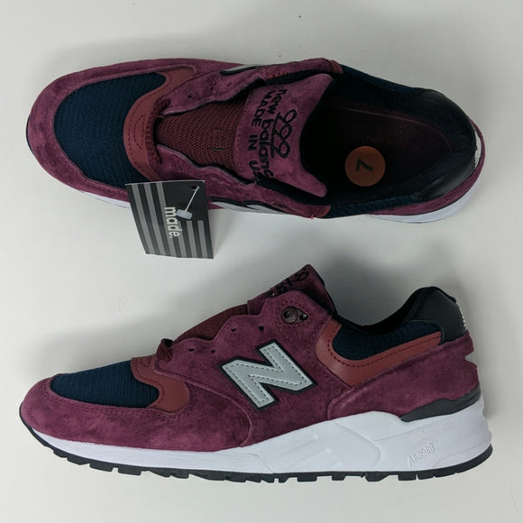 New Balance 999 Men's M999JTA Burgundy Maroon Navy Made In USA Men's Size 7 - LoneSole