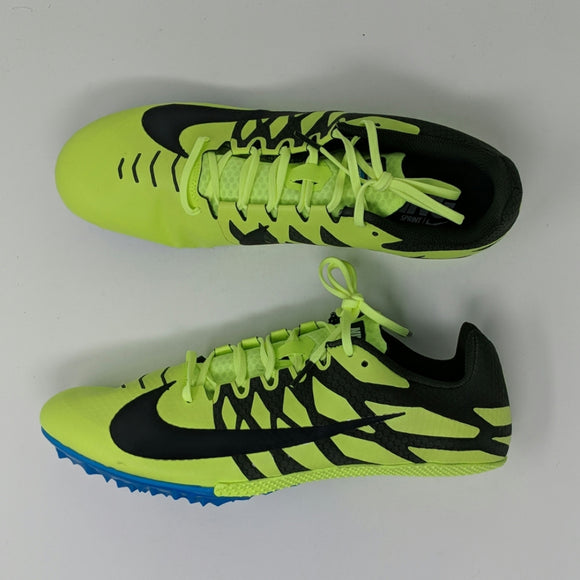 Nike Zoom Rival S 9 Track Shoes Mens Spike Volt Black 907564-703 New - LoneSole
