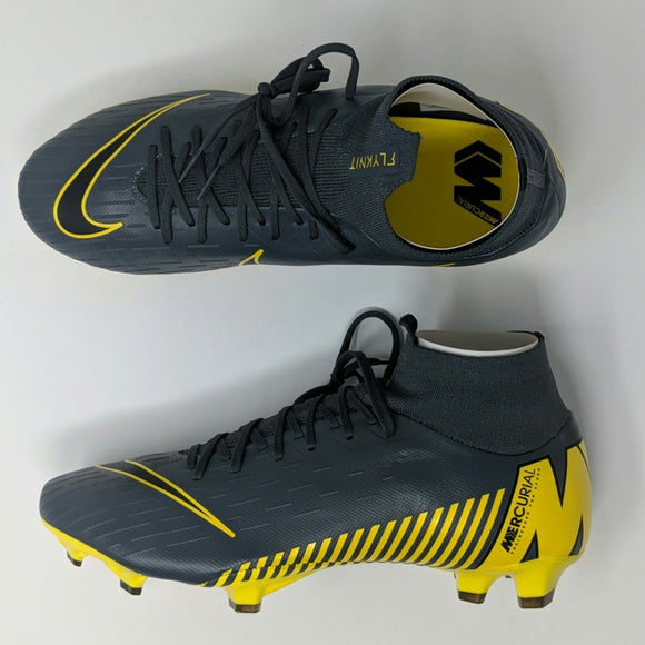 Nike Superfly 6 Pro FG Men's Soccer Cleats AH7368 070 Dark Grey Opti Yellow New - LoneSole