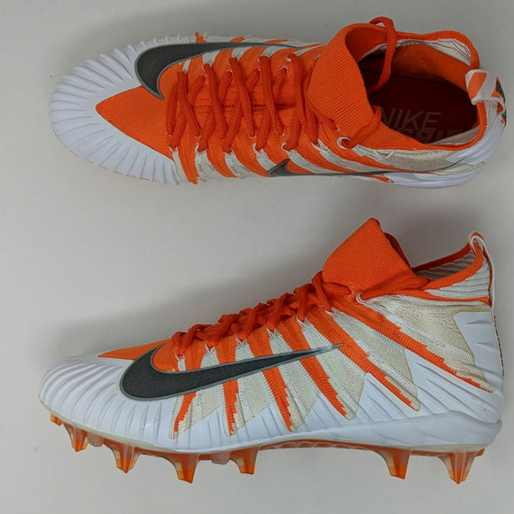 Nike Alpha Menace Elite 877141-810 Men's Orange-White Football Cleats 13 New - LoneSole