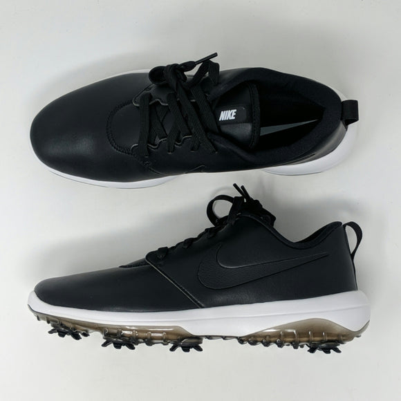 Nike Roshe G Tour Golf Shoes Mens Black White Hit Leather AR5580-001 New - LoneSole