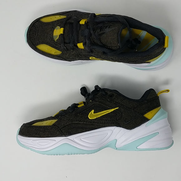 Womens Nike M2K TEKNO LX BV0970-001 Black/Bright Citron NEW - LoneSole