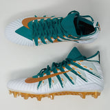 Nike Alpha Menace Elite Flyknit Football Cleats Miami Dolphins AJ6547-302 sz 12.5 - LoneSole