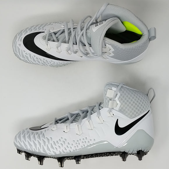 Nike Force Savage Pro White Size 10.5 Football Cleats New 880144-100 - LoneSole