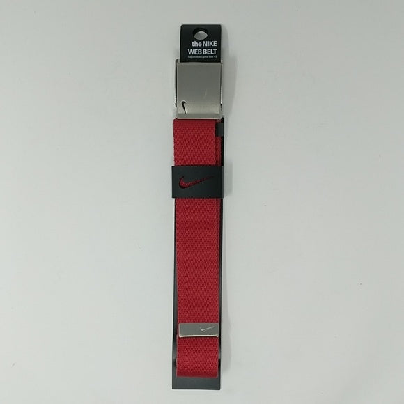 Nike Web Belt with Bottle Opener Adjustable Belt Red Belt Silver Buckle - LoneSole
