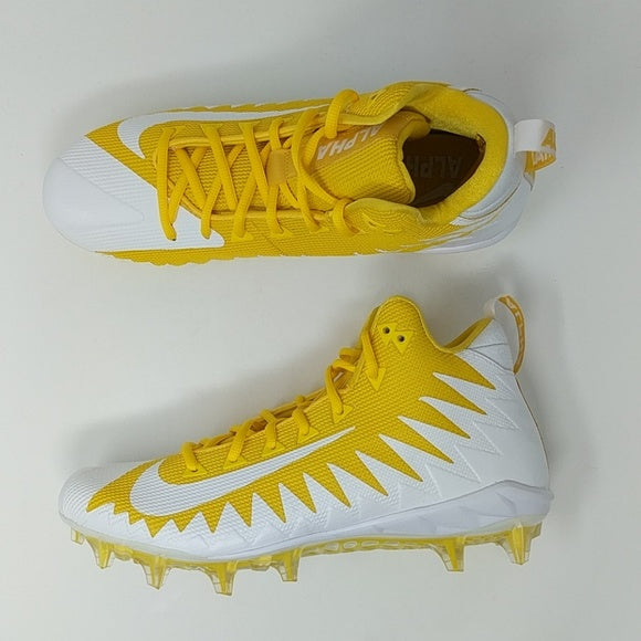 Nike Alpha Menace Pro Mid Football Cleats Sz 10 Varsity Maize Yellow 871451-711 - LoneSole
