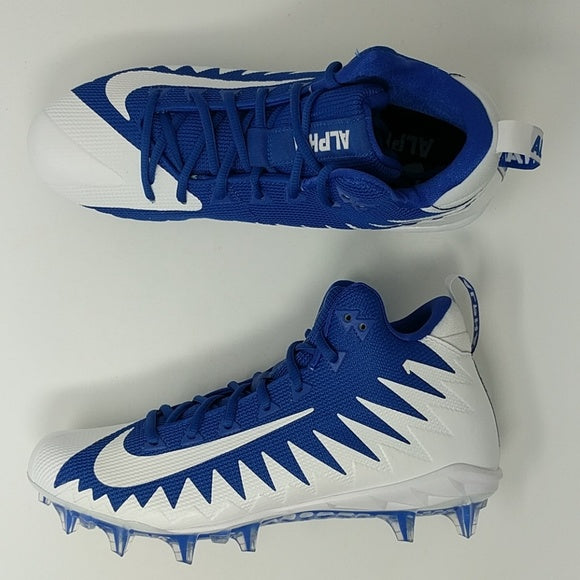 Nike Alpha Menace Pro Mid Football Cleats Game Royal Blue SZ 10 ( 871451-411 ) - LoneSole