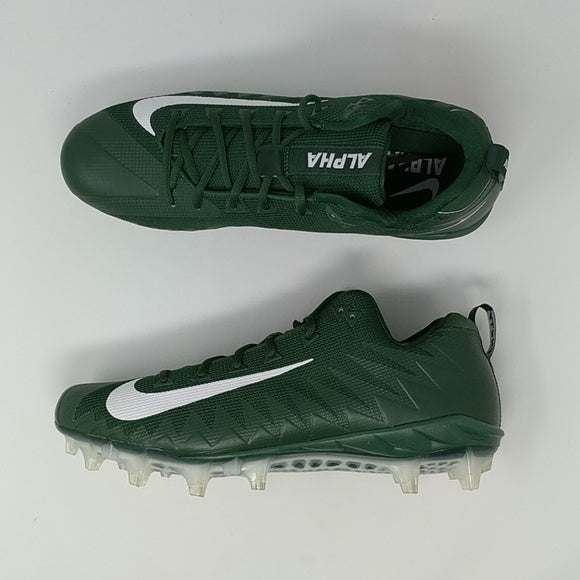 Nike Alpha Menace Pro Low TD Football Cleats Green White 922804-313 Sz 14 - LoneSole