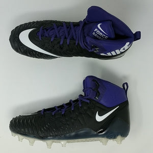 Nike Force Savage Pro TD Promo Football Cleats Black/Purple 918346-015 Sz 14 - LoneSole