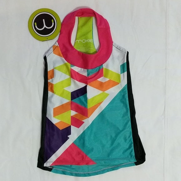 Moxie Cycling Young Miss Colorblock Athletic Jersey Kids T-back NWT - LoneSole
