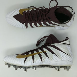 2561681eef3 Nike Alpha Menace Elite Football Cleats Maroon Metallic Gold SZ 18 (  877141-671 )