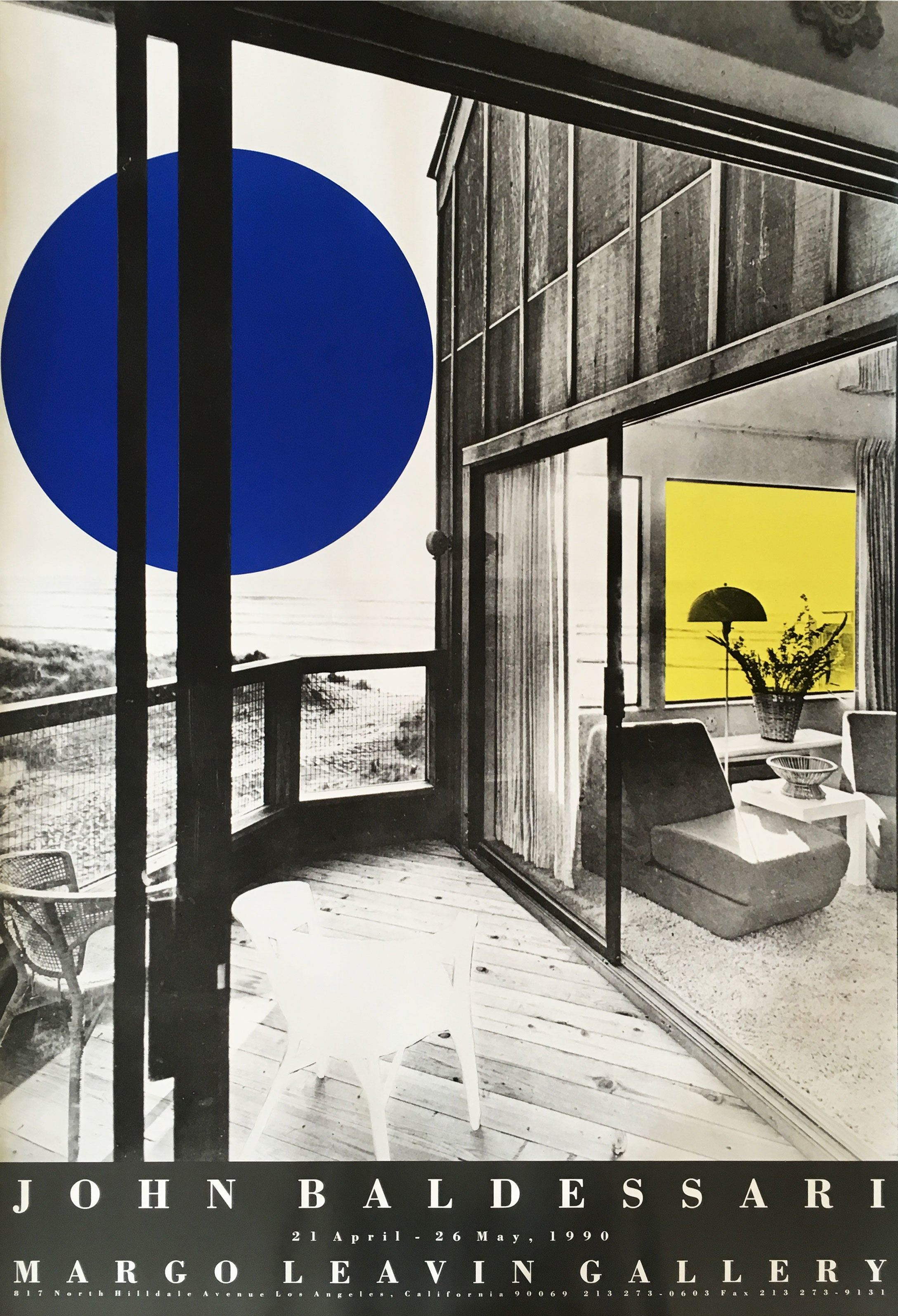 Original John Baldessari Exhibition Poster at Margo Leavin Gallery in 1990
