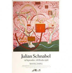 Vintage Julian Schnabel Exhibition Poster from 1986