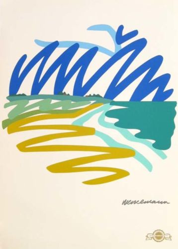 Tom Wesselmann Seascape Contemporary Visual Artist Original Fine Art Lithograph