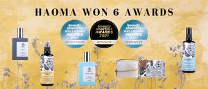 Haoma award winner beauty shortlist awards, organic, vegan. Best Handmade Soap, Best Natural Deodorant, Best Perfume, Best Foot Deodorant