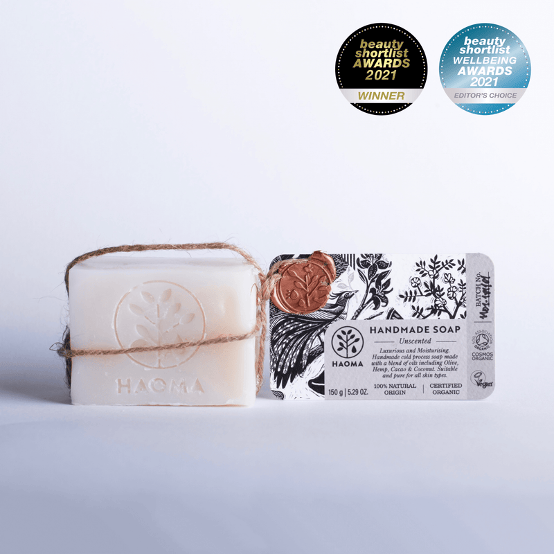 Award winning organic vegan soap for sensitive skin, baby, eczema