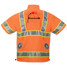 Load image into Gallery viewer, Best High Visibility Cooling Jacket For Construction Workers And More Orange/Yellow