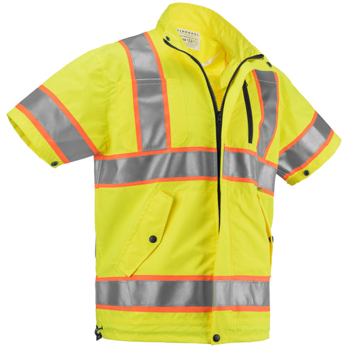 Best High Visibility Cooling Jacket For Construction Workers And More Orange/Yellow