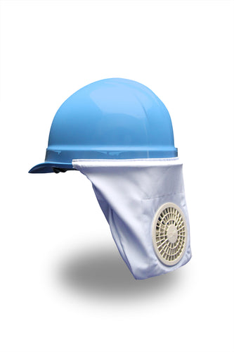 Cooling Hard Hat For Half Brim Hard Hats With Lithium Ion Battery