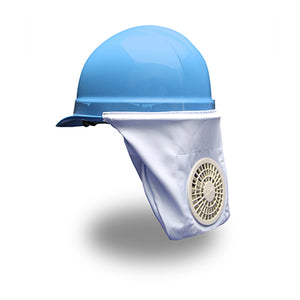 Hard Hat Cooler Neck Shade for Baseball-cap Style Hard Hats with AA Battery Pack