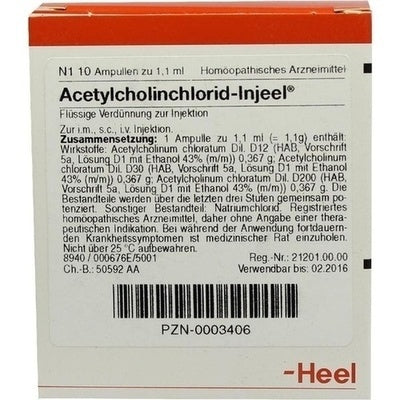 Acetylcholinchlorid Injeel - Ampoules