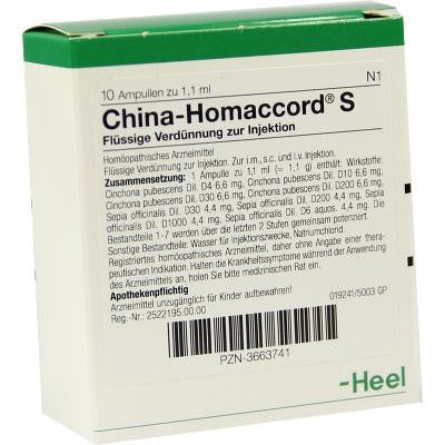 China Homaccord - Ampoules