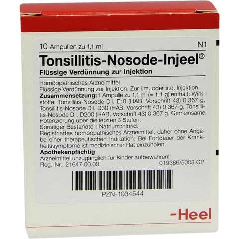 Tonsillitis Nosode Injeel Ampoules