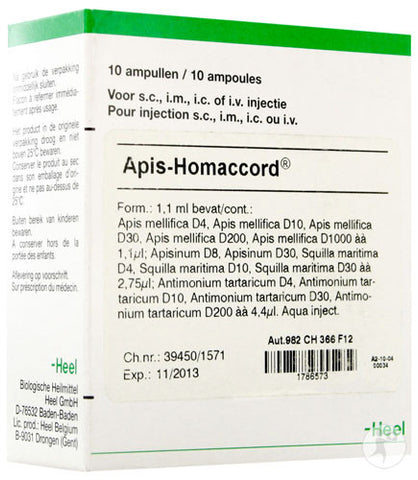 Apis Homaccord Ampoules