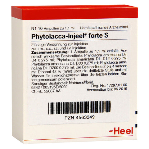 Phytolacca Injeel forte S Ampoules