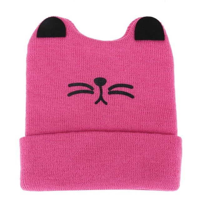9bfeaa07f32 Cute Baby Cat Beanie Hat (Various Colours) - Free Shipping! – Top ...
