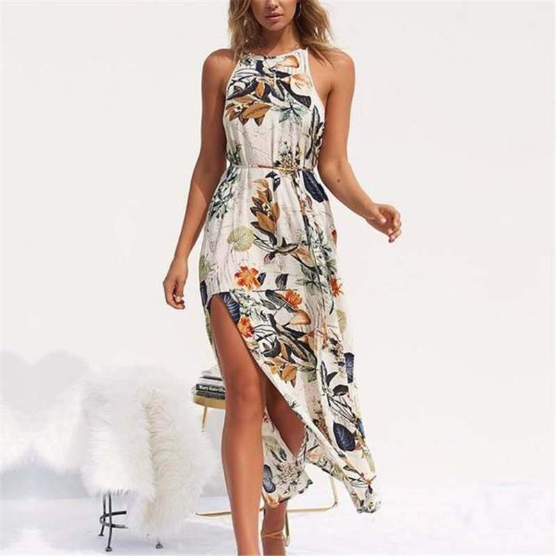 Women Printed Beach Long Dress