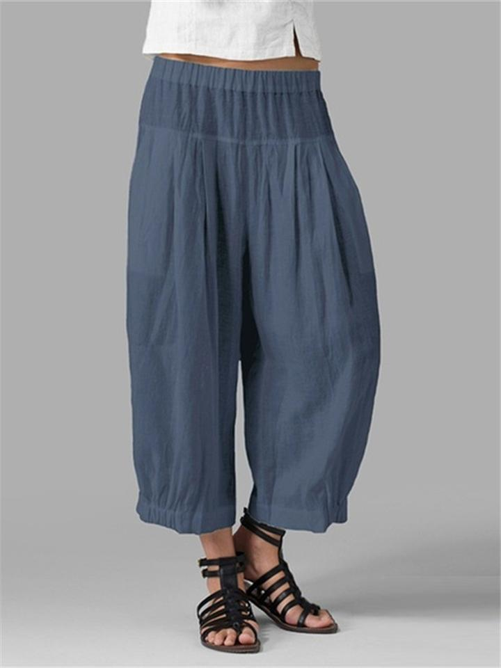 Hot Sale Loose Comfy Elastic Waist Pants For Women