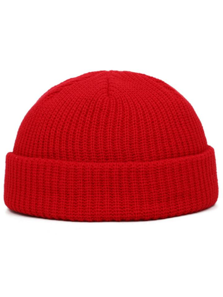 Youthful Hip-Hop Solid Color Beanie