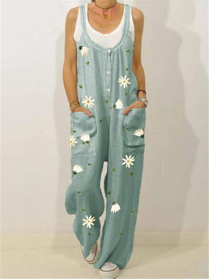 Women's Comfy Printed Jumpsuit