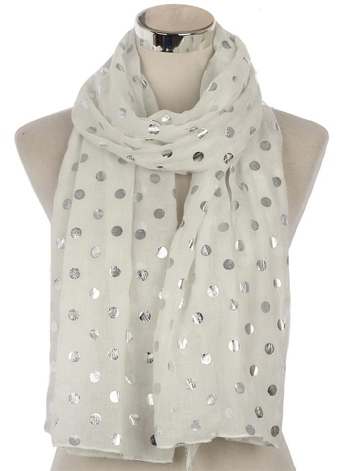Solid Color Elegant Polka Dot Multi-Purpose Scarf & Shawl