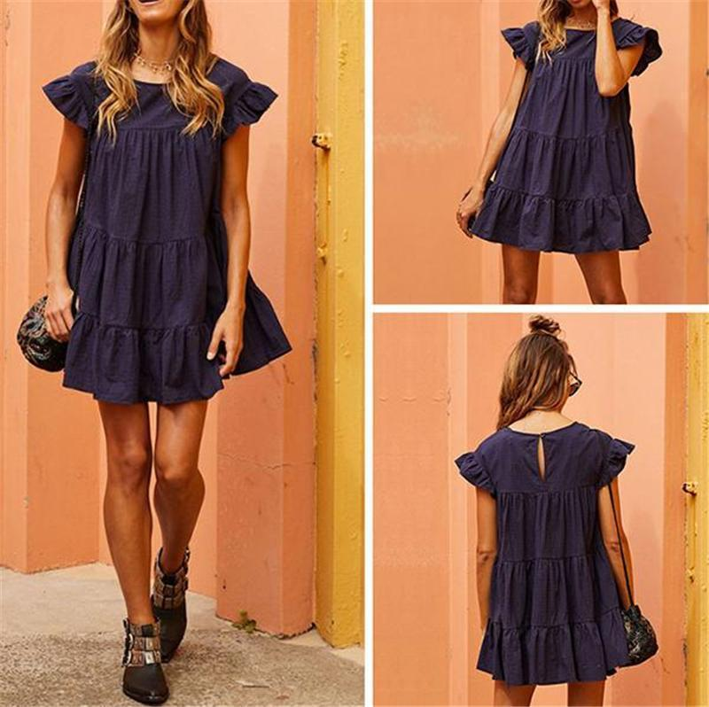 Sweet Sleeveless Ruffle Mini Dress